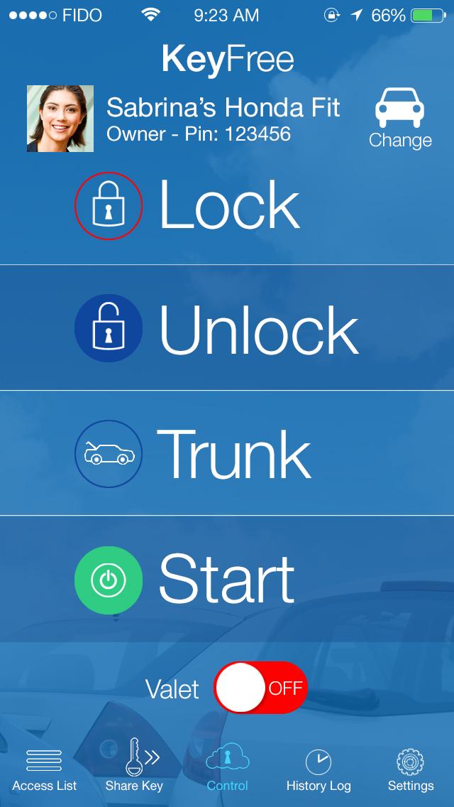 Keyfree - Controls