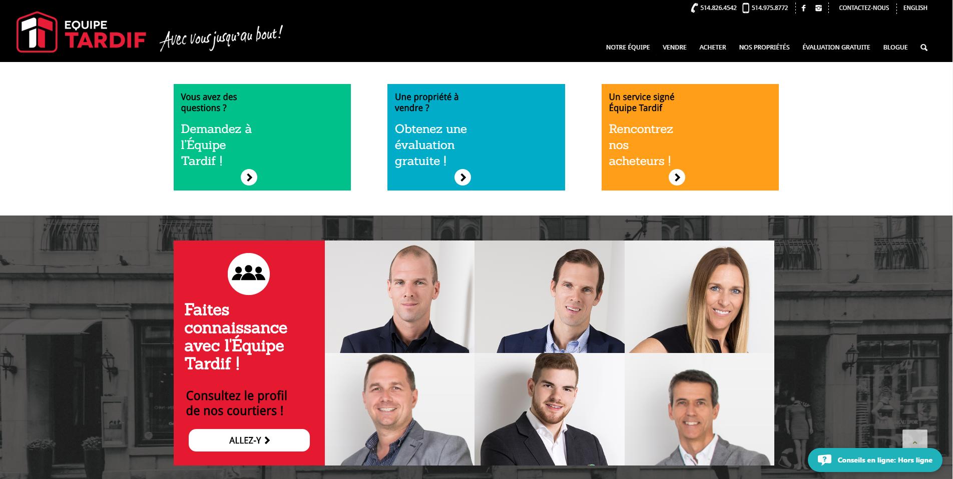 Équipe Tardif - homepage